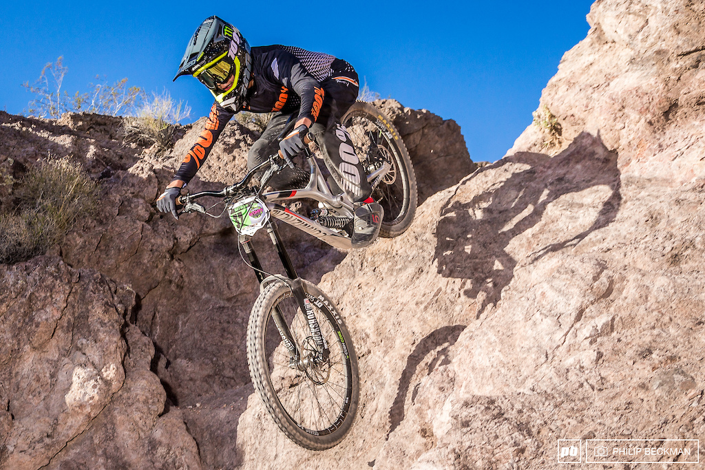 Dante Silva Commencal JR Cartel railed to the Cat 1 15-16 division win with a time that would have put him on the Pro Men s podium.