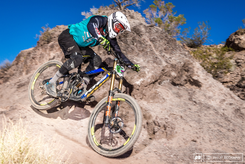 KHS Factory Racing s Quinton Spaulding took a very close win less than one second over Chris Canfield Canfield Brothers in Open Men DH.