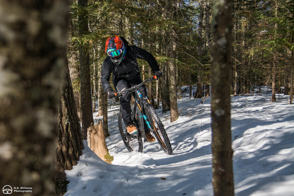 Groomed fat bike trails at Lester Park