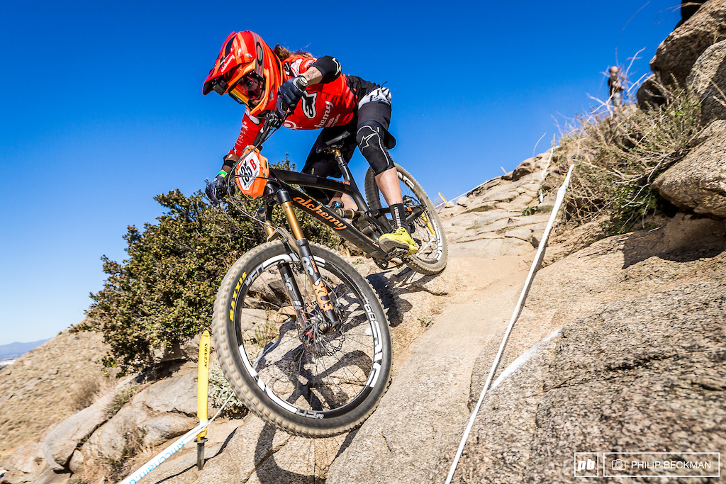 Anneke Beerten Alchemy is no stranger to Southridge regularly training here in the offseason to prepare for the Enduro World Series. She won the Pro Women s XC on Saturday and then doubled up with the Downhill victory on Sunday.