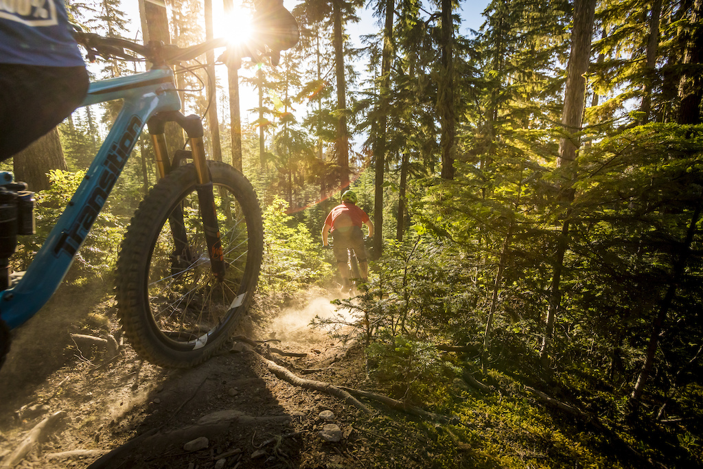 Mountain biking in Whistler. Photo by Justa Jeskova
