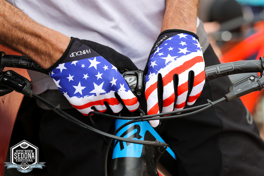 Nothing like a good set of Hand Up gloves to show some patriotism.