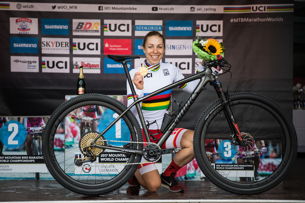 Annika Langvad - crowned as the 2017 marathon world champ on MAGURA.