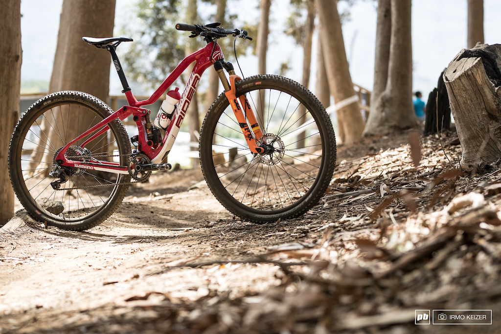The brand new Th mus Lightrider fully which Lukas amp Matthias Fl ckiger Alessandra Keller and Kathrin Stirnemann will be riding. Not all riders will be able to ride the new bike in Stellenbosch as it just entered production.