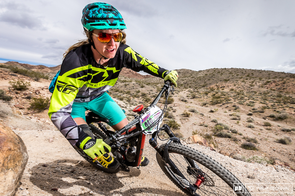 Braving high winds and long stages Stefanie McDaniel Fly Racing prevailed in the Pro Open Women s Enduro with a time of 37 59.945 winning by almost two minutes.