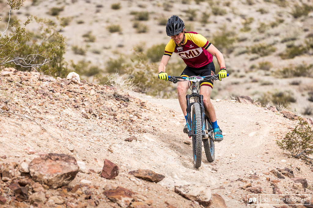 It was full-on cross country mode for Pro Open Men s Enduro winner Carter Anderson CMU Cycling . Anderson won two of the three stages and claimed the victory with a total time of 33 56.645.
