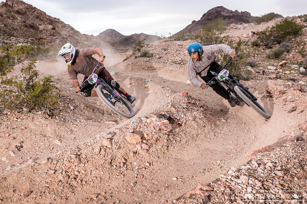 Jeremy David left and Amias Gomez had a tight battle for the Pro Open Men s Dual Slalom win with David coming out on top.