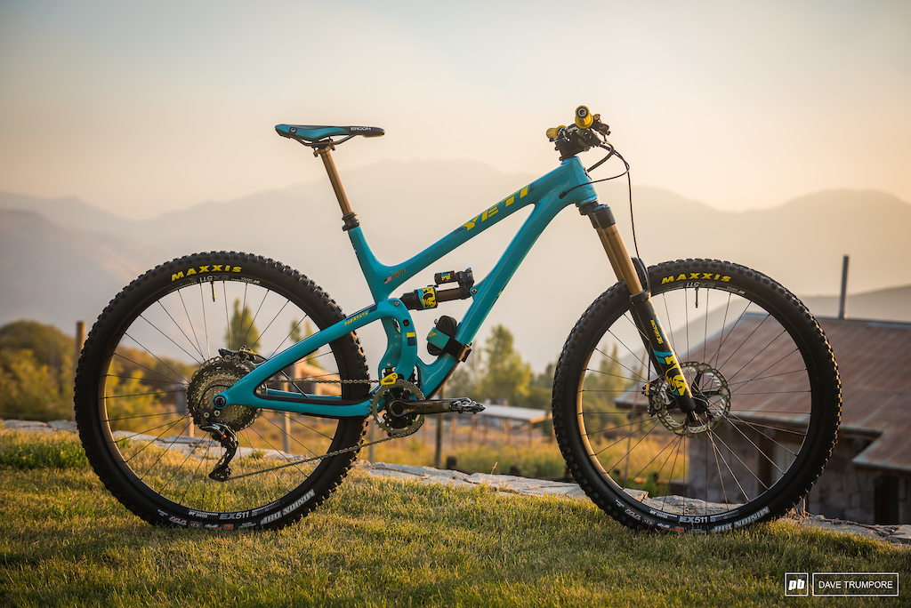 Richie Rude is rolling on the big wheels this week with this Yeti SB5.5.