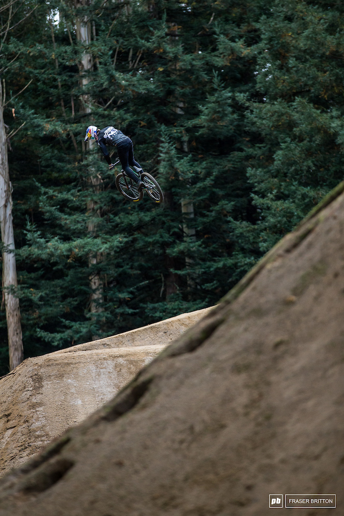 Godziek with one last warm up spin just before the Crankworx went live to the world.