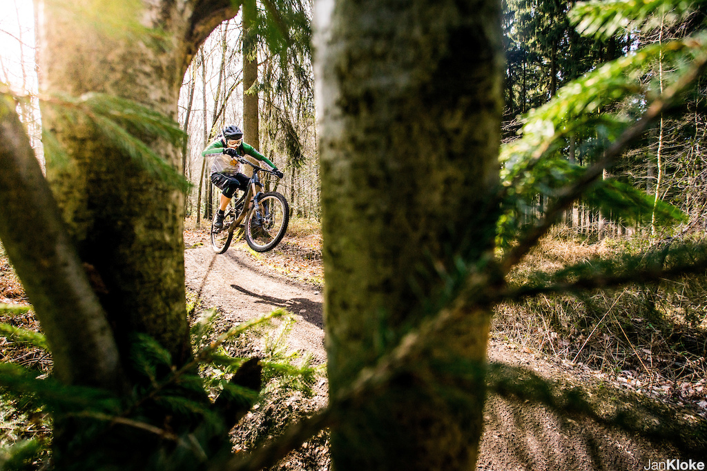 Sunny day at Bikepark Aachen. 