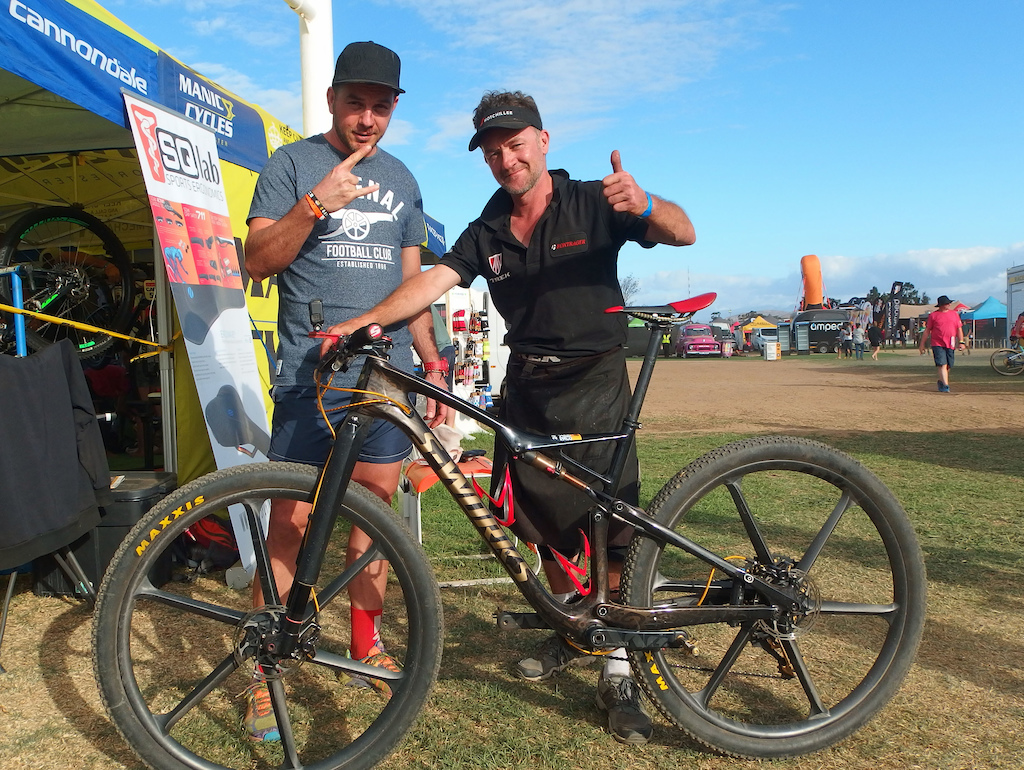 me and michael from poland . nice bike custom paint job , need to be seen in real to be appreciated . the bike is bling . but he rides like an s- doesn t work .