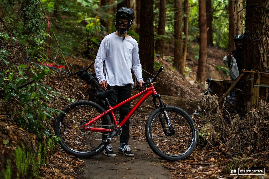 Erik Fedko and his Beddo Bikes Sway Slope bike.