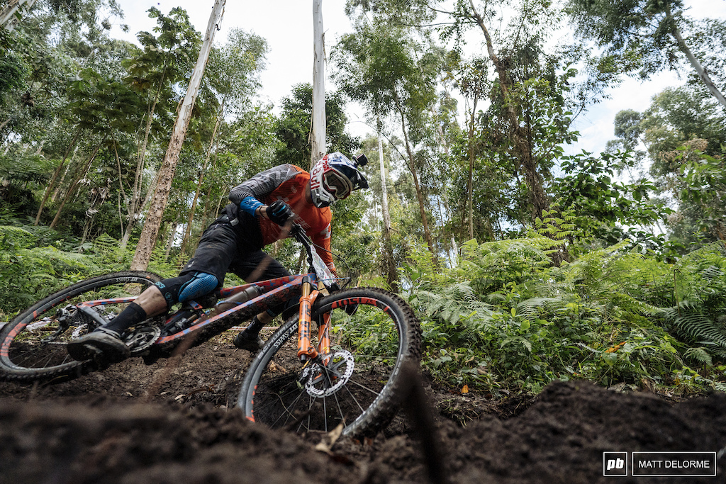 It's a different type of anti-grip here. these trails are greased lightning.