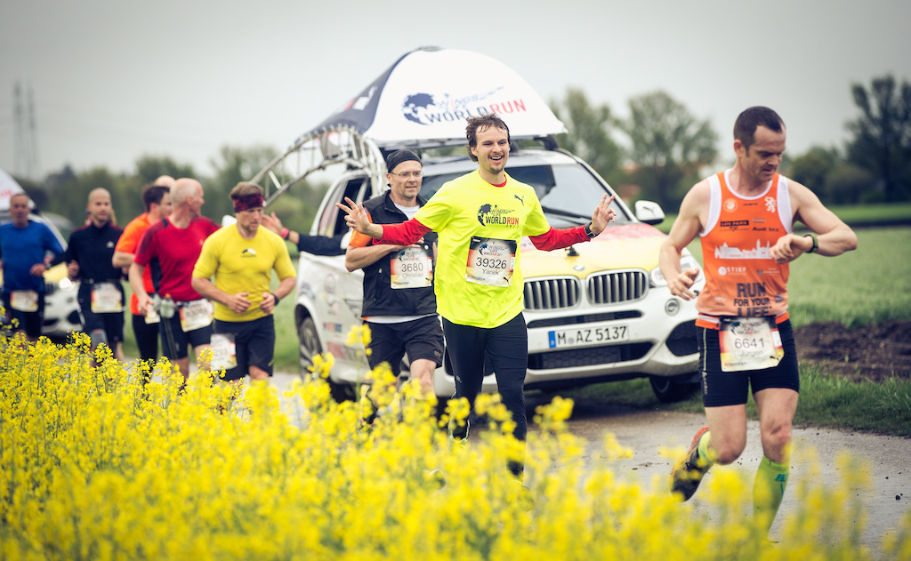 Participants perform during the Wings for Life World Run in Munich, Germany on May 7, 2017. // Marc Müller for Wings for Life World Run // AP-1RX8QQWJ52111 // Usage for editorial use only // Please go to www.redbullcontentpool.com for further information. //