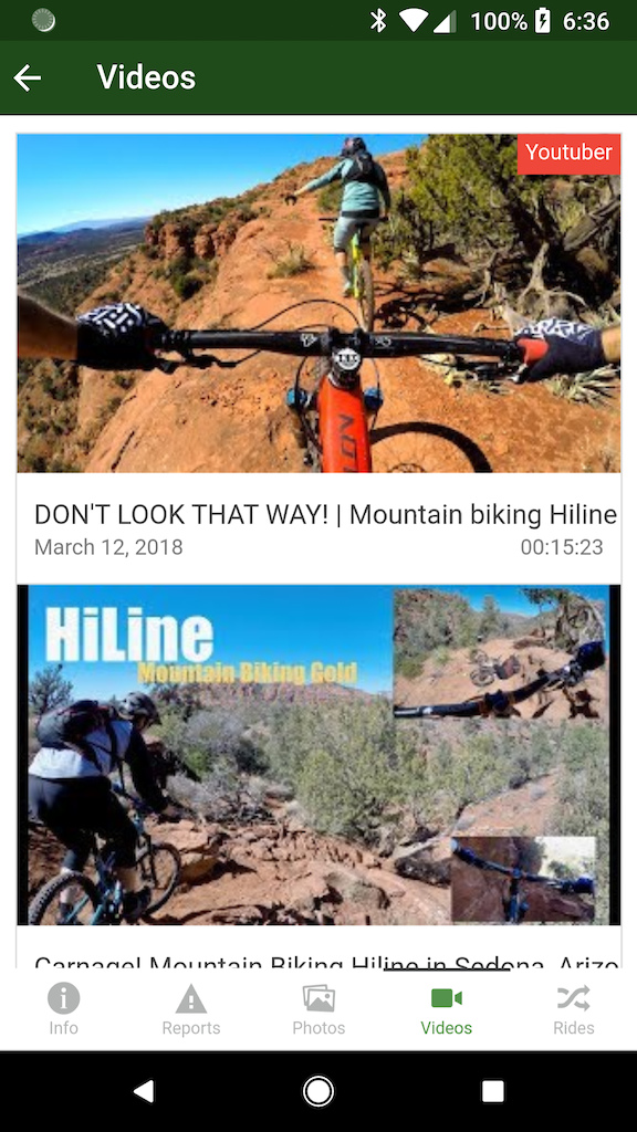 trail videos in app