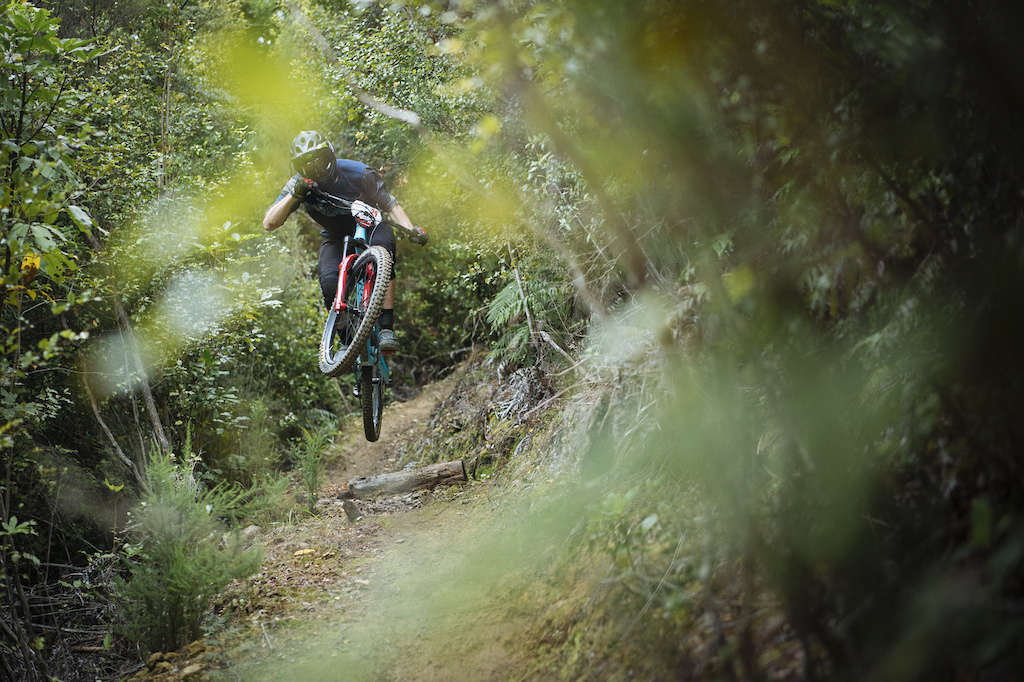 Mike Kazimer from Pinkbike boosts with style.