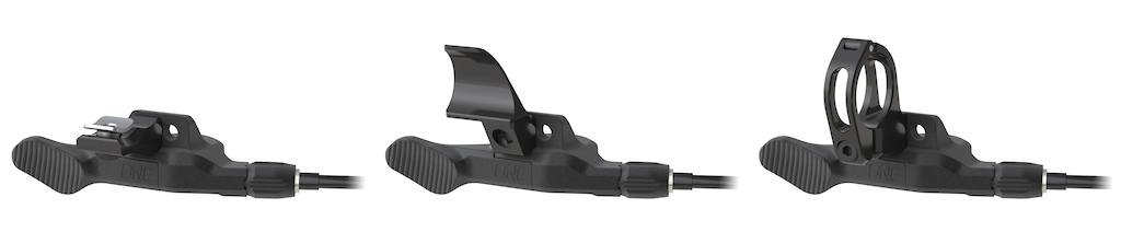 OneUp Components Dropper Post Remote Clamp Options Matchmaker I-Spec-II and Bar Clamp