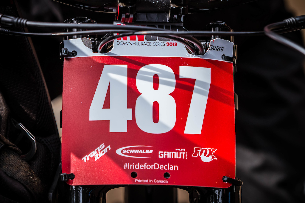 To remember Declan throughout the season event organizers printed IrideforDeclan on all race plates this season.