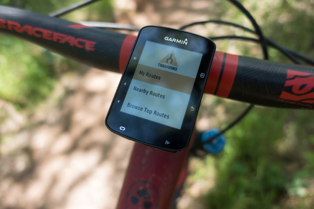 Trailforks now available on the Garmin Edge devices ( 520,820,100,1030) including the new 520+
