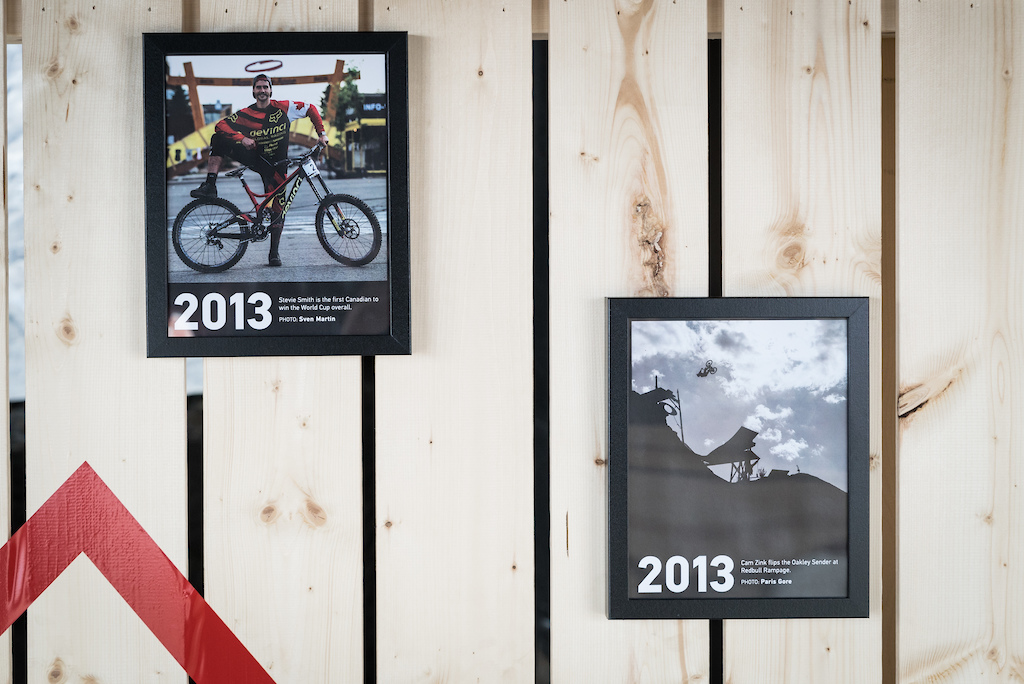 Pinkbike s 20th anniversary booth. Sea Otter 2018.