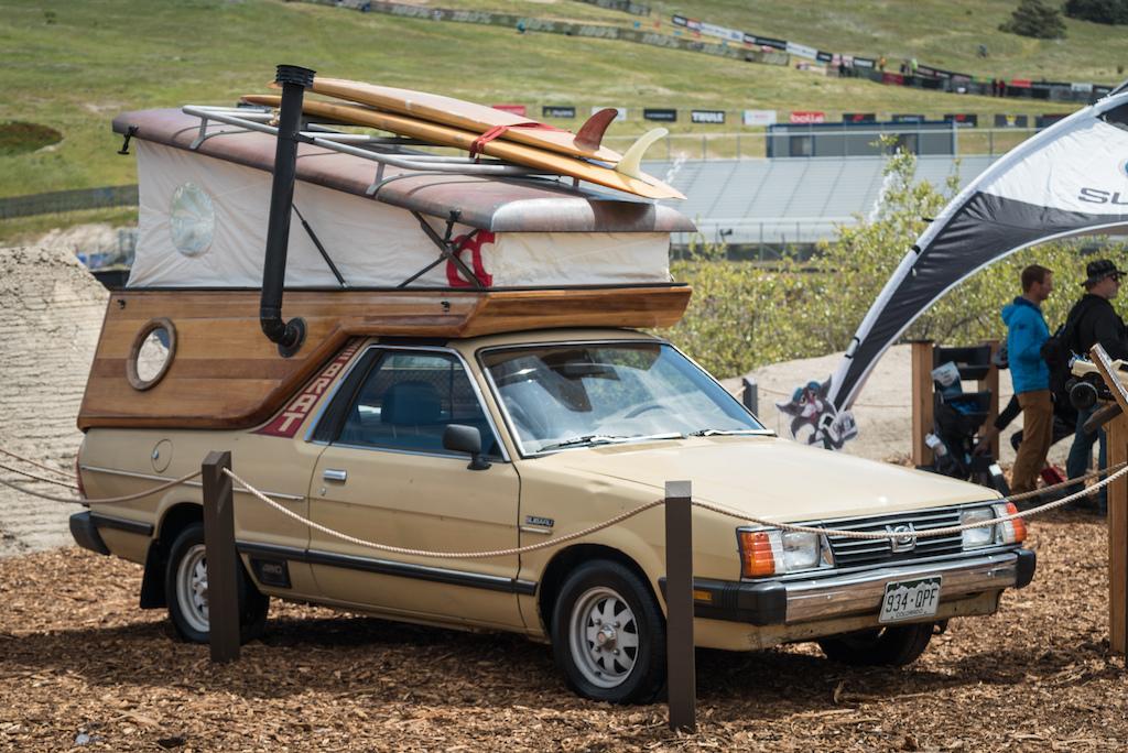 This Subaru Brat steals the show. Sea Otter 2018.
