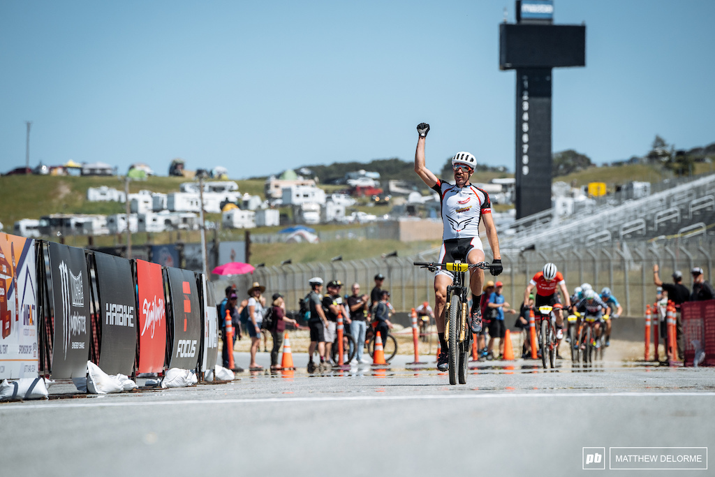 Nicola Rohrbach made a late lap move that gave him a lead no man could catch up to.