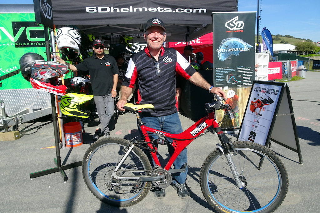 Robert Reisinger founder and creator of Mountain Cycles and now head engineer for 6D helmets poses with one of his creations.