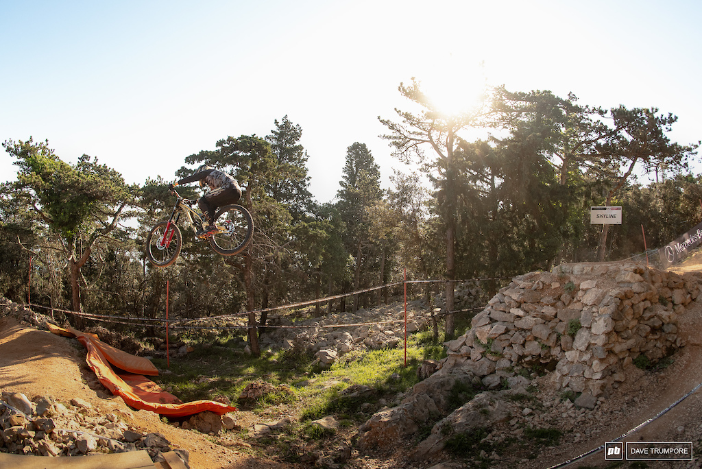 After taking the top spot at the first two Enduro World Series rounds just a few weeks ago Cecile Ravanel landed herself on the podium at her second ever Word Cup DH race.