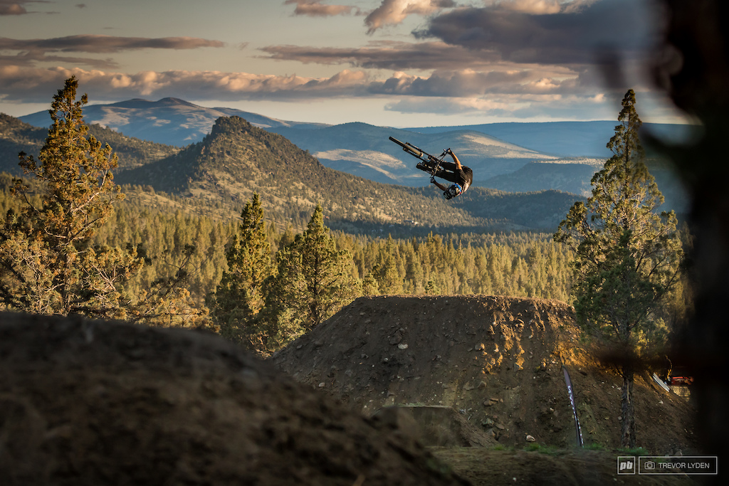 R-doggy with his signature corked out backflip into the sunset.