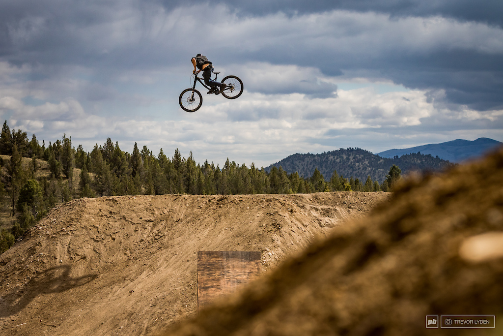 Dustin Gilding was the only person riding nearly non-stop on Saturday.