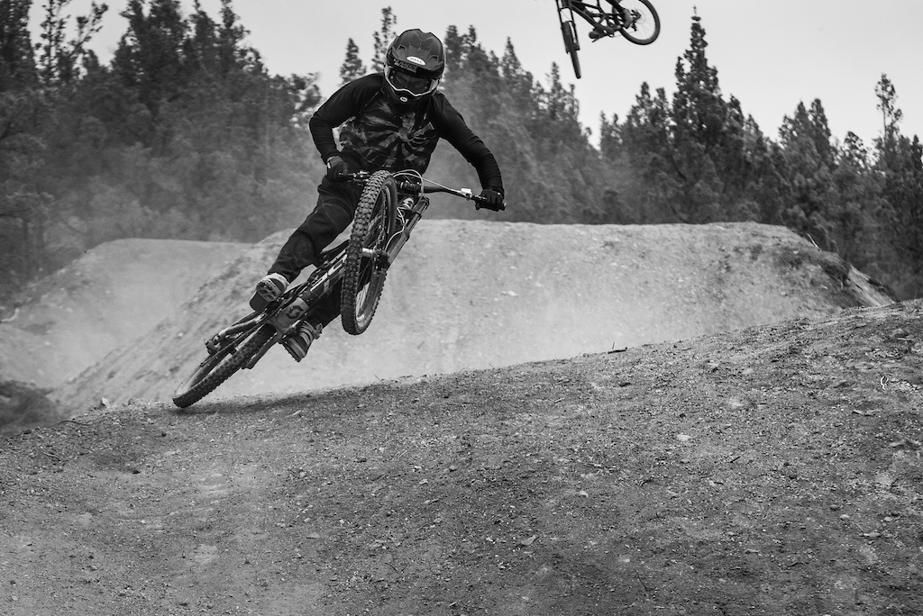 """The """"superboob"""" was a rider favourite section. So many scrubs. Black Sage 2018."""