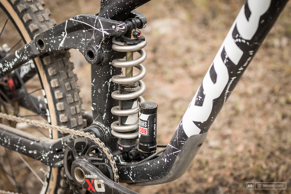 500 pound Ti spring on the Rockshox Vivid RC.