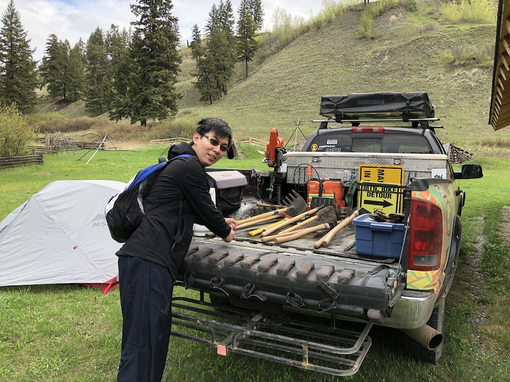 Trail Maintenance, TRU Field Trip with First Journey Trails, BC Interior