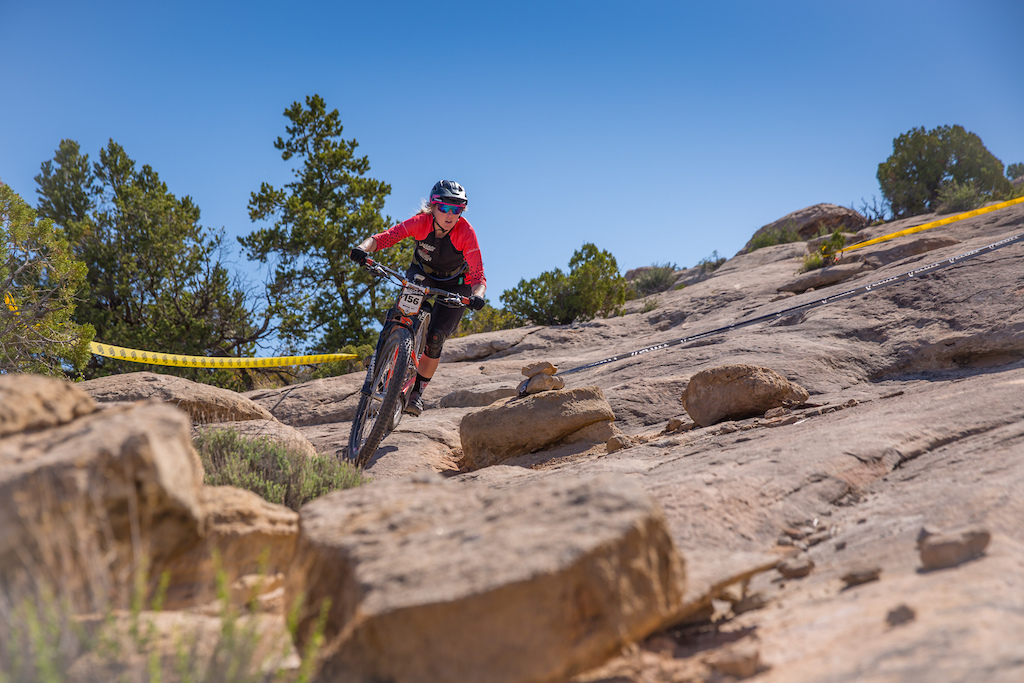Ileana Anderson races the Pro division in Round 1 of the 2018 SCOTT Enduro Cup presented by Vittoria in Moab UT on May 5 2018. Photographer Noah Wetzel courtesy of Enduro Cup