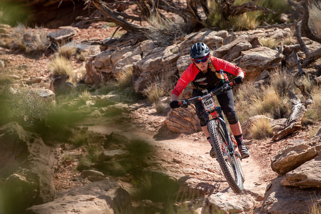 Ileana Anderson races the Pro division in Round 1 of the 2018 SCOTT Enduro Cup presented by Vittoria in Moab UT on May 5 2018. Photographer Jay Dash courtesy of Enduro Cup