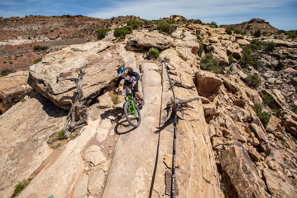 Aeddon Allen races the Junior Men in Round 1 of the 2018 SCOTT Enduro Cup presented by Vittoria in Moab UT on May 5 2018. Photographer Jay Dash courtesy of Enduro C