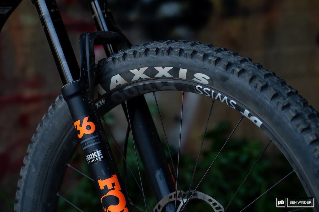 BMC TrailFox AMP Two - Fox s EBike Optimised 36 uses a solid crown and thicker walled stanchions to take on the extra weight of and eMTB.
