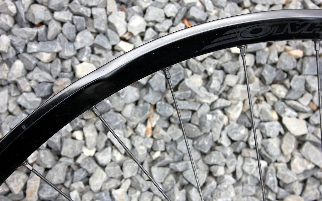 Halo Vortex Wheelset Review - rear wheel ding