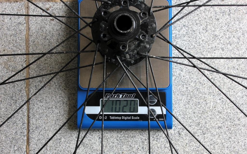 Halo Vortex Wheelset Review - front wheel weight