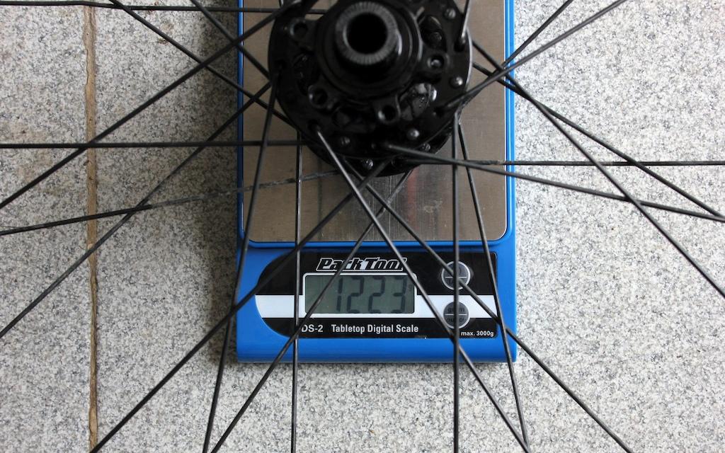 Halo Vortex Wheelset Review - Rear wheel weight
