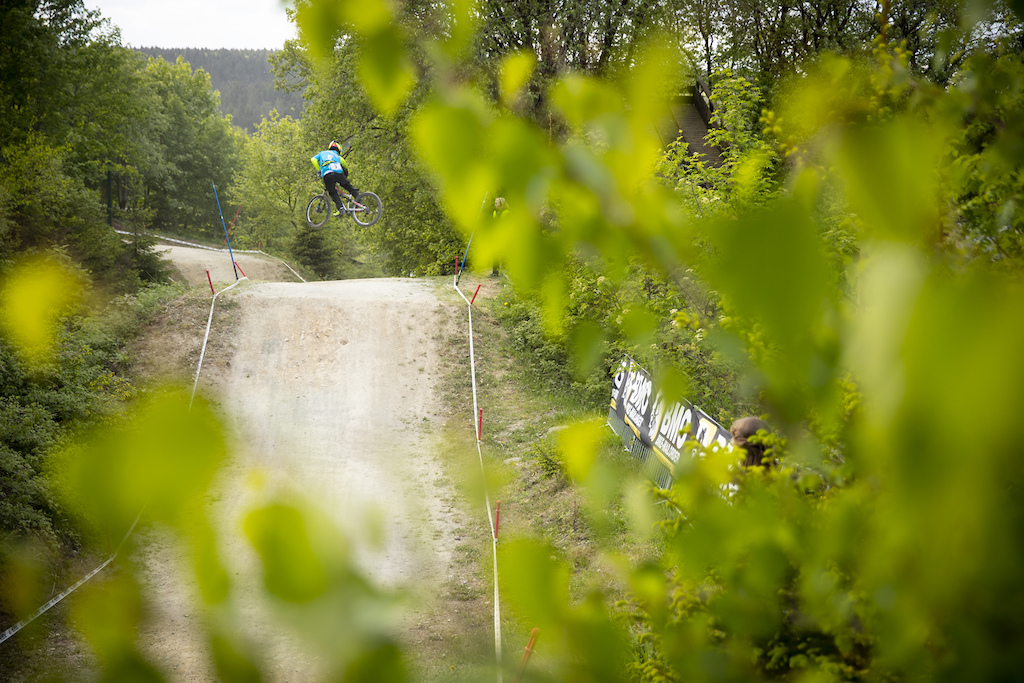 Day 2 practice, qualifying and racing during round 1 of the 2018 4X Pro Tour at , Winterberg, , Germany on May 11 2018. Photo: Charles A Robertson