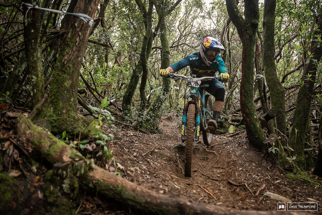 Rocks mud tight trees and awkward French switchbacks weren t match for Richie Rude this weekend.