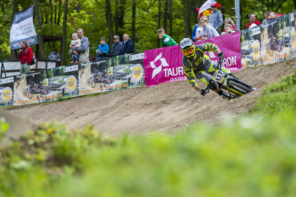 during round 1 of The 4X Pro Tour at Poland. 10May 2014 Photo Charles Robertson