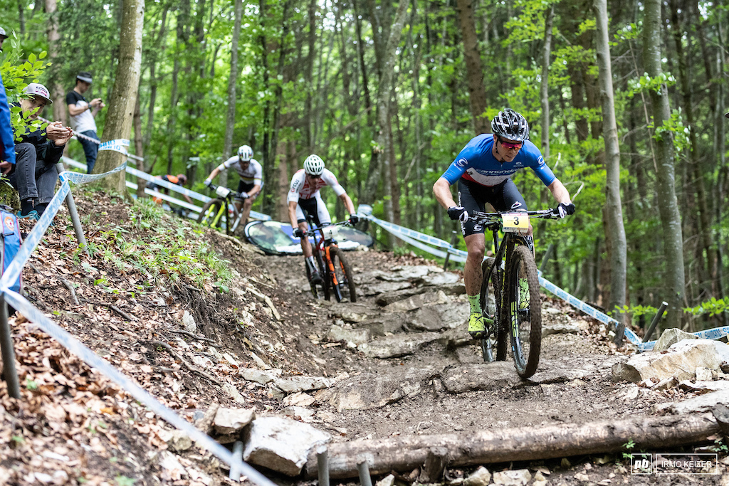 The first three laps of the race seemed promising for another challenge to Schurters supremacy but Nino Schurter would take off in lap 4 reinstating his status.
