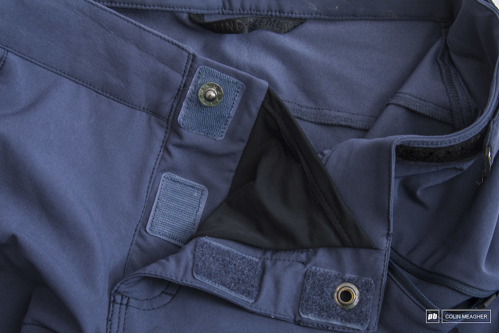 """Ions Traze_Amp Short fastens securely with a Velcro reinforced snap and a """"privacy"""" patch."""