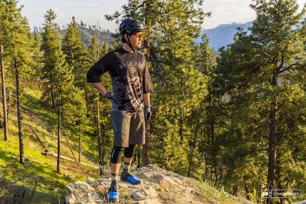 Jameson Florence riding trails in Leavenworth, WA