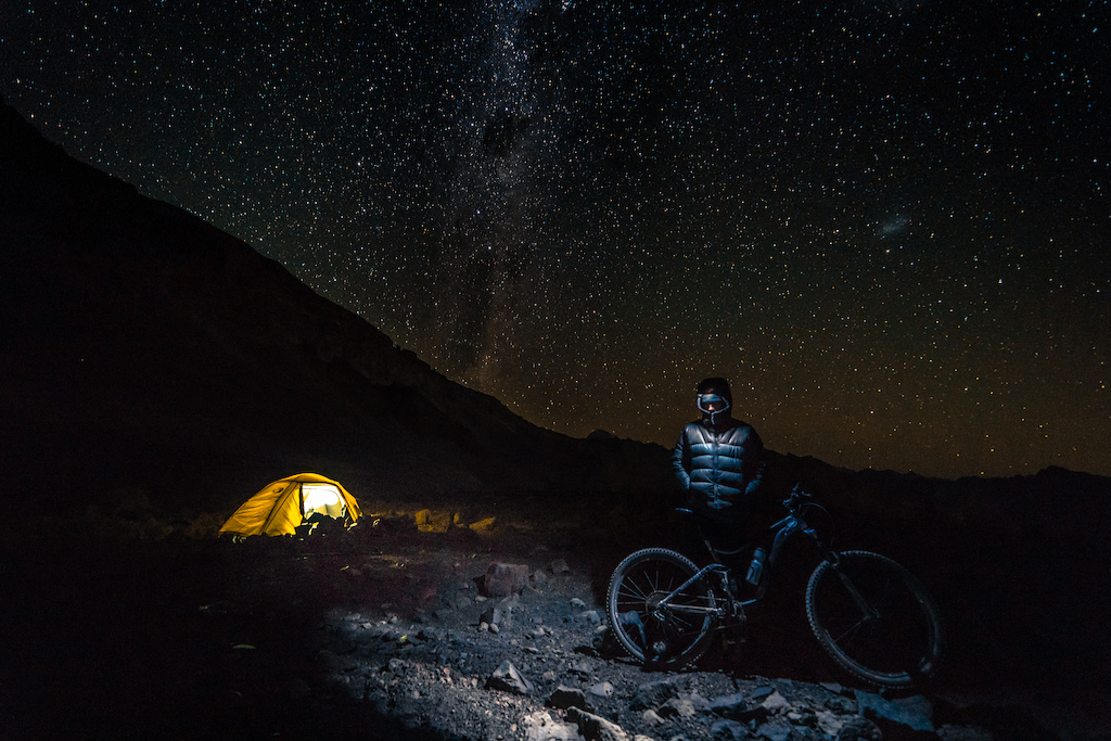 This was the second attempt and first ascent by bike to the San Jose Volcano 19.212 ft - 5.856 mts located at the andean Cajon del maipo in the central Andes of Santiago de Chile. bigmountainbike inner mountain
