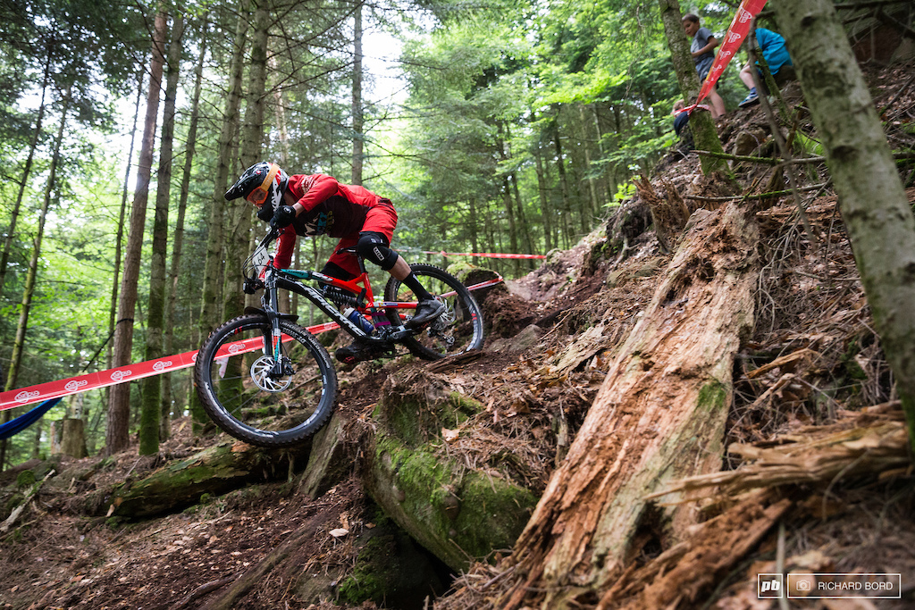 23 years old rider with an XC background Paul Thiebaut is giving Enduro races a serious try with a 5th place here.