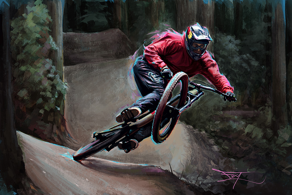 Brandon Semenuk Photo reference by Toby Cowley www.frygallery.com