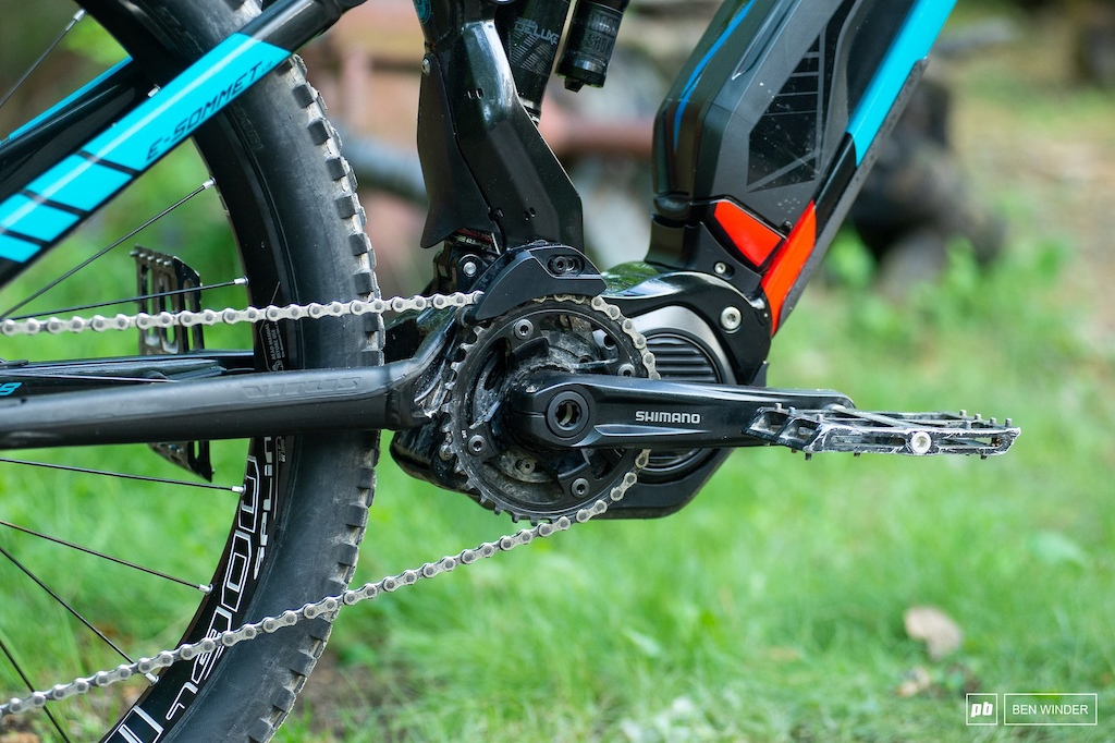 Shimano s motor and crankset were as relaible as ever.